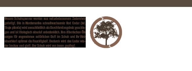 naturbelassenen Zedernholz